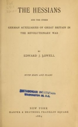 "Cover of ""The Hessians and the other German auxiliaries of Great Britain in the revolutionary war"""