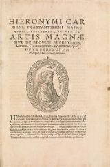 Cover of Hieronymi Cardani, prAstantissimi mathematici, philosophi, ac medici Artis magnA, sive, De regulis algebraicis