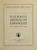 Cover of Hierros artísticos espanoles de los siglos XII al XVIII