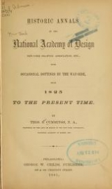 Cover of Historic annals of the National academy of design, New York drawing association, etc