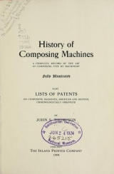 Cover of History of composing machines