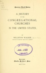 Cover of A history of the Congregational churches in the United States