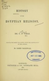 Cover of History of the Egyptian religion