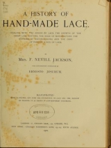 Cover of A history of hand-made lace