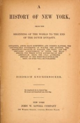 Cover of A history of New York