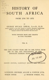 Cover of History of South Africa