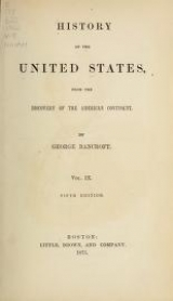 Cover of History of the United States from the discovery of the American continent