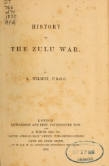 "Cover of ""History of the Zulu war"""