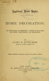 """Cover of """"Home decoration"""""""