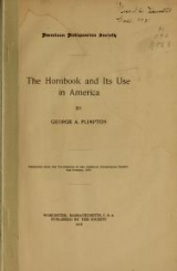 Cover of The hornbook and its use in America
