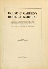 Cover of House & garden's book of gardens