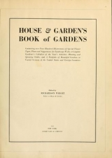 Cover of House & garden's book of gardens