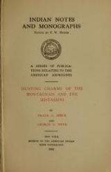 Cover of Hunting charms of the Montagnais and the Mistassini