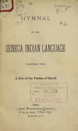 Cover of Hymnal in the Seneca Indian language