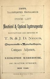 Cover of Illustrated catalogue and price list of nautical & optical instruments