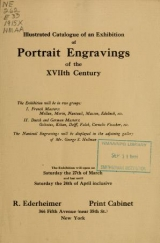 Cover of Illustrated catalogue of an exhibition of portrait engravings of the XVIIth century