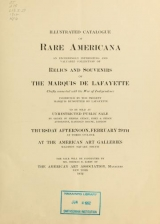 Cover of Illustrated catalogue of rare Americana