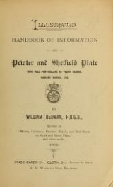 Cover of Illustrated handbook of information on pewter and Sheffield plate