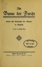 Cover of Im Banne der Furcht