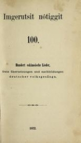 Cover of Imgerutsit nôtiggit 100 =