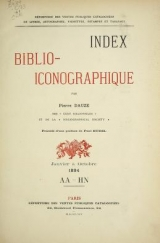 Cover of Index bibliographique
