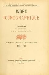 Cover of Index bibliographique