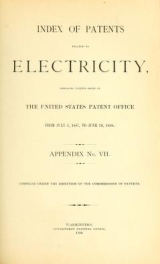 Cover of Index of patents relating to electricity