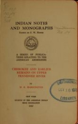 Cover of Indian notes and monographs