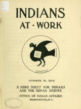 """Cover of """"Indians at work"""""""