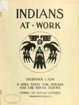 Cover of Indians at work v. 4 no. 8 (1936- Dec. 1)