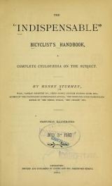"Cover of The ""indispensable"" bicyclist's handbook"