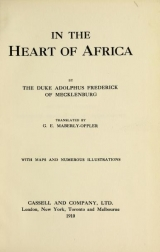 Cover of In the heart of Africa