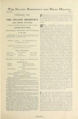 Cover of The Inland architect and news record v. 11-12 Feb 1888-Jan 1889