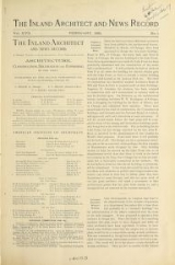 Cover of The Inland architect and news record v. 17 Feb-July 1891