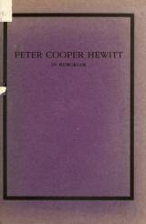 Cover of In memoriam of Peter Cooper Hewitt
