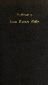 Cover of In memory of Zenos Ramsey Miller