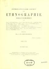 Cover of Internationales Archiv für Ethnographie