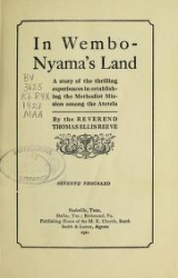 """Cover of """"In Wembo-Nyama's land"""""""