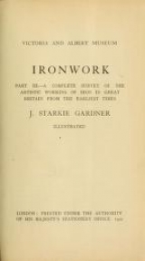 Cover of Ironwork