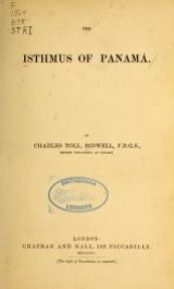 Cover of The isthmus of Panamá
