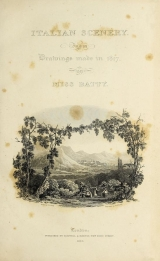 Cover of Italian scenery from drawings made in 1817