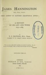 "Cover of ""James Hannington, first bishop of eastern equatorial Africa"""