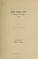 Cover of Jekyl island club, Brunswick, Georgia, 1916