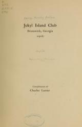 Cover of Jekyl island club, Brunswick, Georgia, 1916