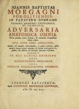 Cover of Joannis Baptistae Morgagni Foroliviensis ... Adversaria anatomica omnia