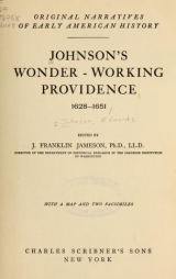Cover of Johnson's Wonder-working providence, 1628-1651