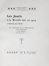 Cover of Les jouets à la World's fair en 1904 à Saint-Louis (U-S)