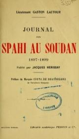Cover of Journal d'un spahi au Soudan