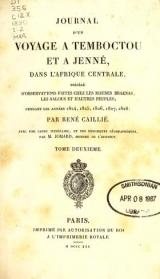 Cover of Journal d'un voyage à Temboctou et à Jenné, dans l'Afrique Centrale