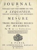 Cover of Journal du voyage fait par ordre du roi, a l'el±uateur